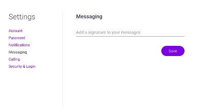 Add your signature in the Messaging section