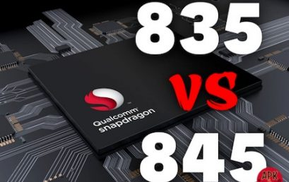 Compare the Snapdragon 845 with the Snapdragon 835