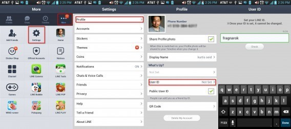 How to add a LINEcontact on Android4