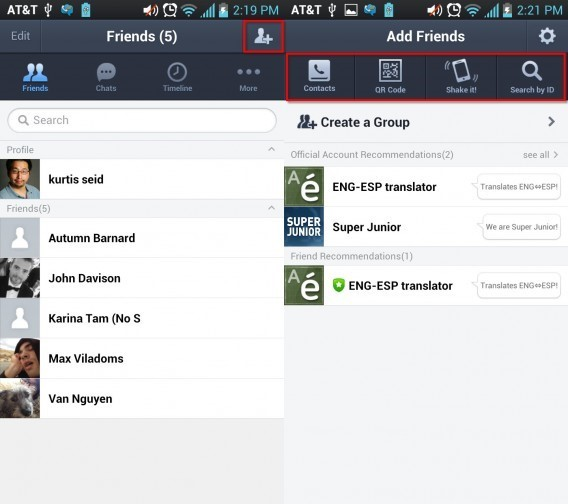 How to add a LINEcontact on Android
