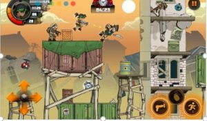 Action game combined with attractive 2D shooting platform on Android