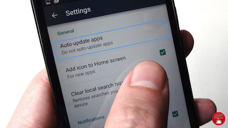 How to turn off automatic app updates on Android devices