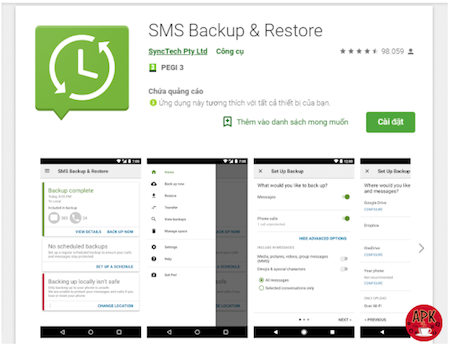 How to backup text messages on android without app