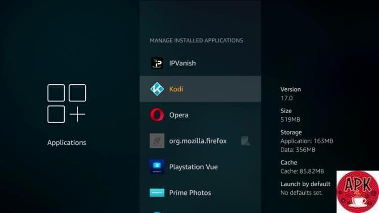 Step 6 -On the Fire TV device - How to reset Kodi- HOW TO RESET KODI AND CLEAR CACHE IN KODI.jpeg
