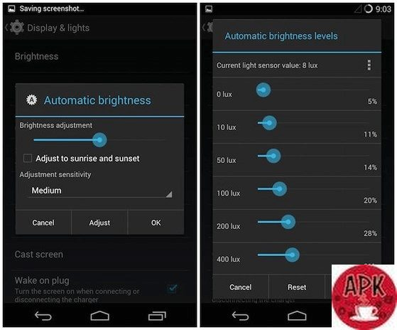 Adjust the brightness level automatically-23 WAYS TO IMPROVE YOUR ANDROID PHONE BATTERY LIFE.jpeg