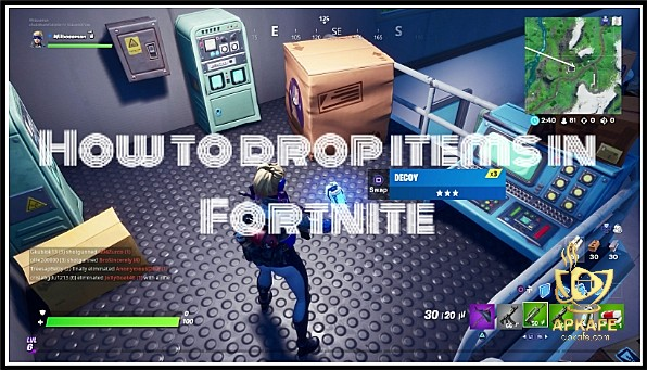 How To Drop Items In Fortnite