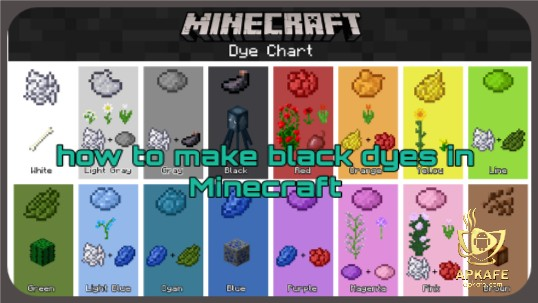 How to make black dyes in Minecraft