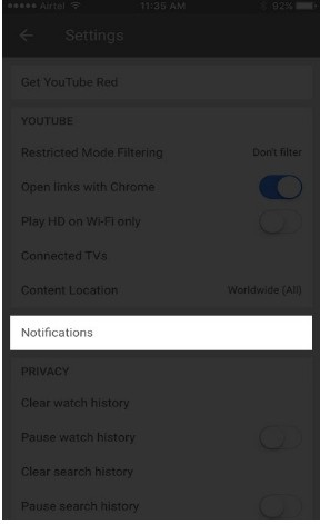 how to turn off youtube notifications 4