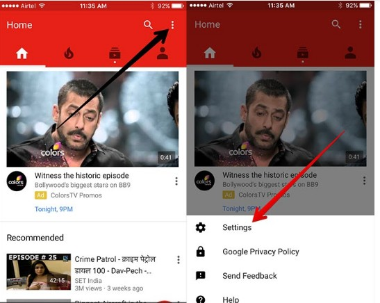 how to turn off youtube notifications 3